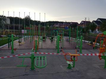 В Бугурусланском районе монтируется площадка ГТО