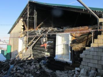 11 февраля произошел пожар в с. Кирюшкино
